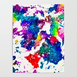 queer radiation —abstract art » modern print » trippy experimental Poster