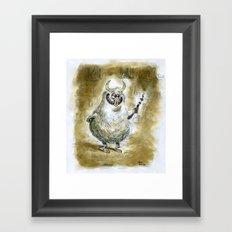 Monster sketch Framed Art Print