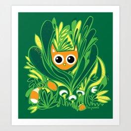 Cat in the Wild Art Print