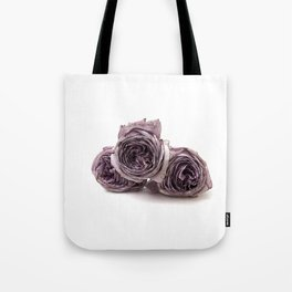 Purple wilted roses Tote Bag