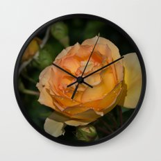 Eureka Rose and Raindrops Wall Clock