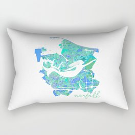Mermaid in a Sea of Trees Rectangular Pillow