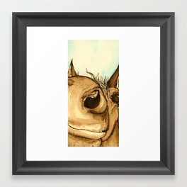 How nosey! Framed Art Print