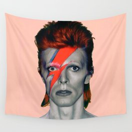 pinky bowie3 Wall Tapestry