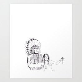 Please Smile Art Print