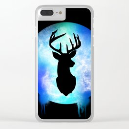 Night Deer Clear iPhone Case