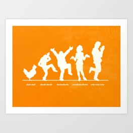 Bluth Chickens Art Print