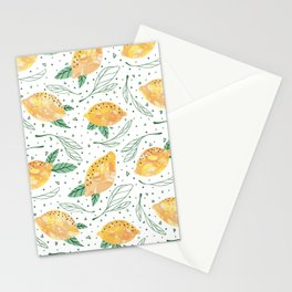 Lemonlicious Lemon Pattern Stationery Cards