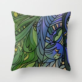 Finding my shelter Throw Pillow