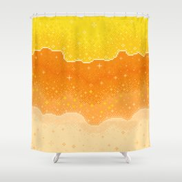 Candycorn Galaxy Shower Curtain
