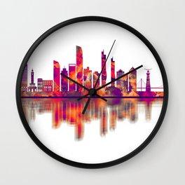 Izmir Turkey Skyline Wall Clock