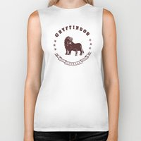 gryffindor Biker Tanks featuring Gryffindor House by Shelby Ticsay