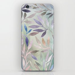 Painted Leaves 2 - color variation iPhone Skin
