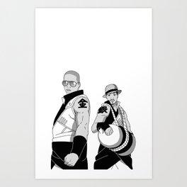 Kinkaku Boi and Ginkaku 3000 Art Print
