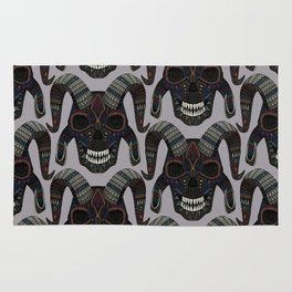 demon skull heather Rug