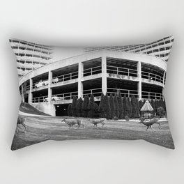 A Curious Herd Rectangular Pillow