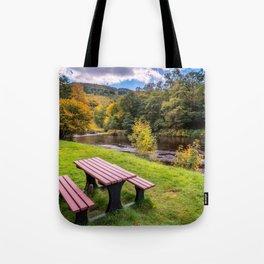 Snowdonia River Autumn Tote Bag