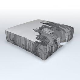 Bath, England Skyline - Navaho B&W Outdoor Floor Cushion