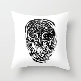 Vizard - Mask Throw Pillow