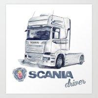 Scania Art Print