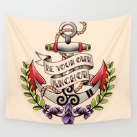 teen wolf Wall Tapestries featuring Be Your Own Anchor - Teen Wolf by Olivia Desianti