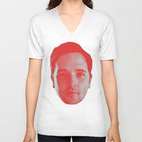 chad wys V-neck T-shirts featuring Chad Head by Blake Makes Tees