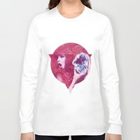 bjork Long Sleeve T-shirts featuring Bjork Low Poly Collection by Giselle LowPoly