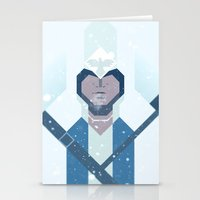 assassins creed Stationery Cards featuring Connor / Assassins Creed by Maxim Nikitin