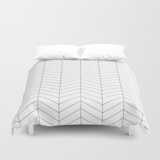 Herringbone - Black + White by nolkdesign