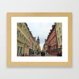 Street Scene in Heidelberg, Germany Framed Art Print