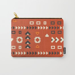 American native shapes in red Carry-All Pouch