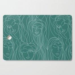 Green Ladies Cutting Board