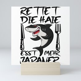 Save The Sharks, Eat More Japanese I Shark Mini Art Print