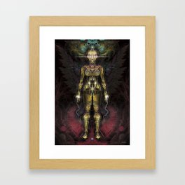 Fractal GOD - Angel Framed Art Print
