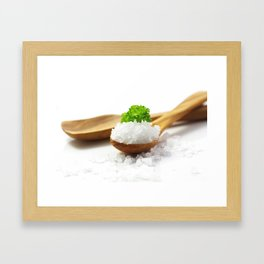 Flavor Salt for your kitchen Framed Art Print