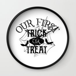 Our First Trick Or Treat Halloween Baby Wall Clock