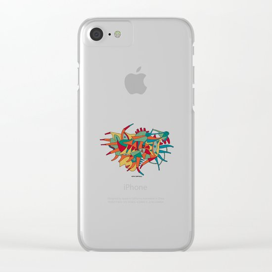 - horse man spider - Clear iPhone Case