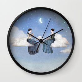 Wind, Clouds and Tea Wall Clock