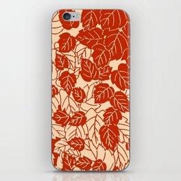 Japanese Leaf Print, Mandarin Orange iPhone Skin