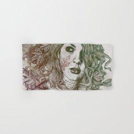 Wake: Autumn (street art woman with maple leaves tattoo) Hand & Bath Towel