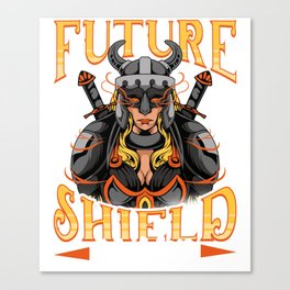 Awesome Future Shield Maiden Nordic Viking Warrior Canvas Print