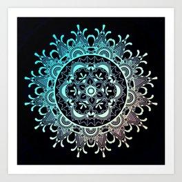 Mandala Night Art Print