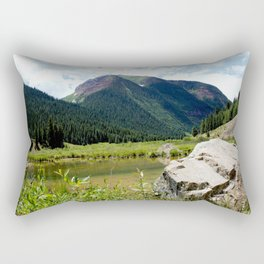 Beaver Lodge at Bear Mountain Rectangular Pillow