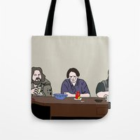 lebowski Tote Bags featuring The Big Lebowski by Josh Ross Illustration