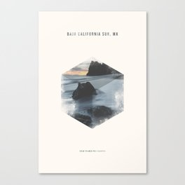 Minimalist Travel Poster - Baja California Sur, MX Canvas Print