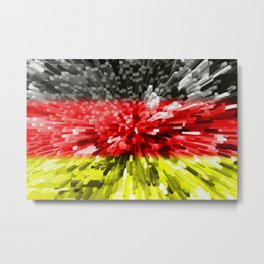 Extruded Flag of Germany Metal Print