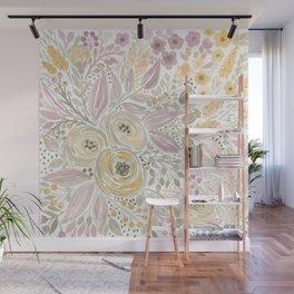 Watercolor . Flower meadow . 1 Wall Mural