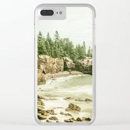 Acadia National Park Maine Rocky Beach Clear iPhone Case