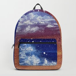 Colorful Sunset Clouds Painting Backpack
