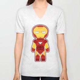 Chibi Iron Man Unisex V-Neck